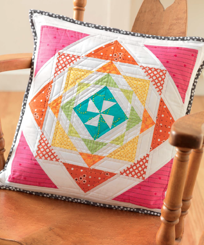 Rainbow Mosaic Pillow from Vintage Quilt Revival – Freshly Pieced