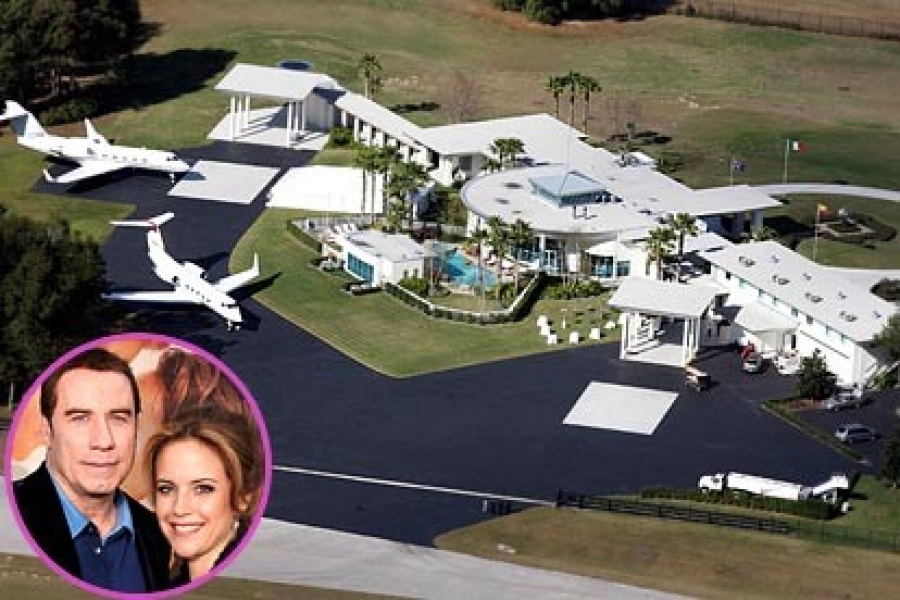John travolta 39 s home 2 5 million funtuna for Celebrity homes in florida