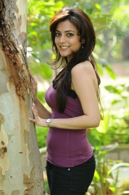 Nisha Agarwal Latest Stills in Purple T-shirt and Pants, Cute Tollywood Babe