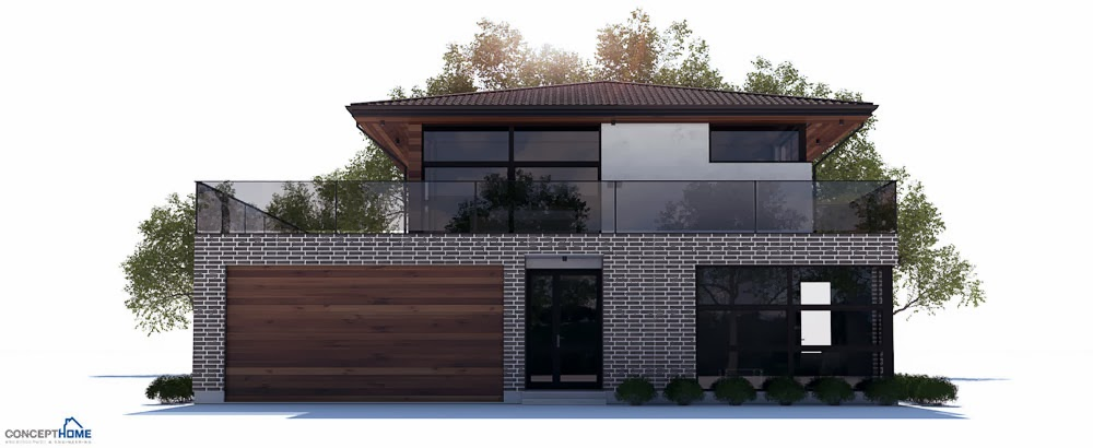 Affordable home plans february 2014 for Modern house plans with garage