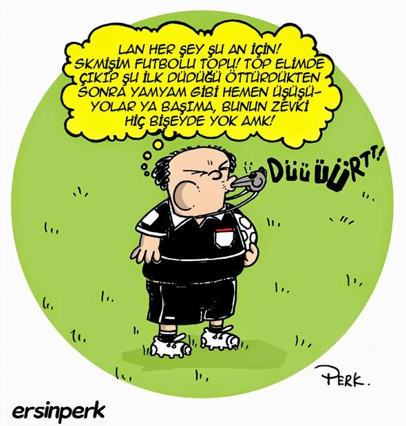 Ersin Perk Karikatürleri Hakem Karikatürü