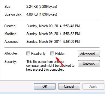 Cara Menyembunyikan File/Folder dengan Mudah