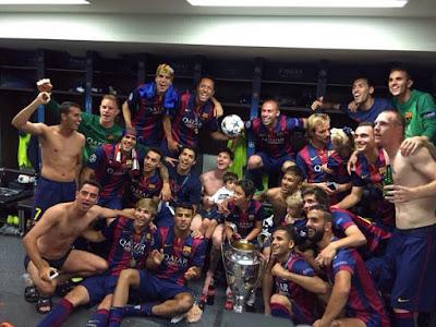 pemain barcelona dengan piala champions 2015