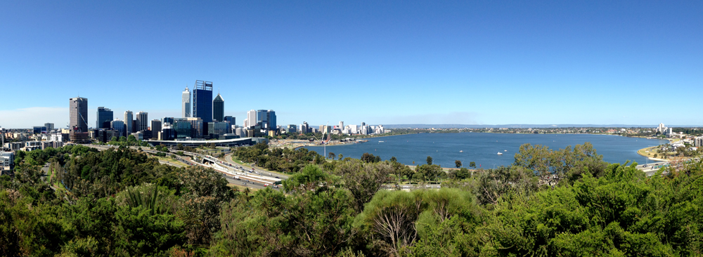View of Perth from Kings Botanic Garden
