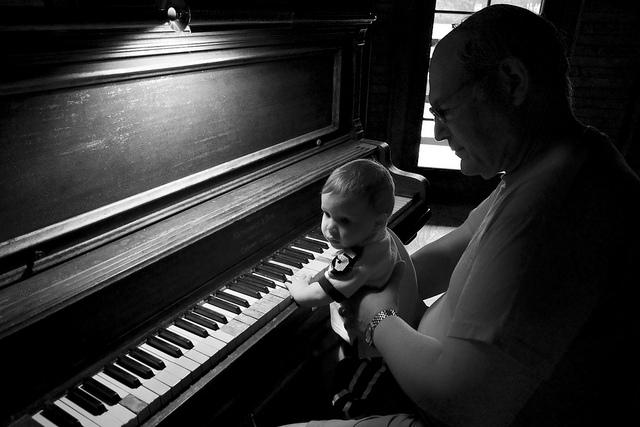 Ser madre y la confianza bebe piano