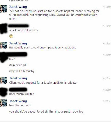 singapore modelling scam