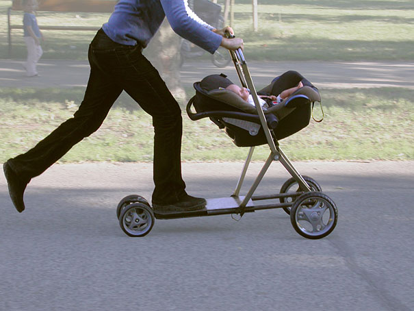 30 Insanely Clever Innovations That Need To Be Everywhere Already - Baby Stroller and Scooter Hybrid