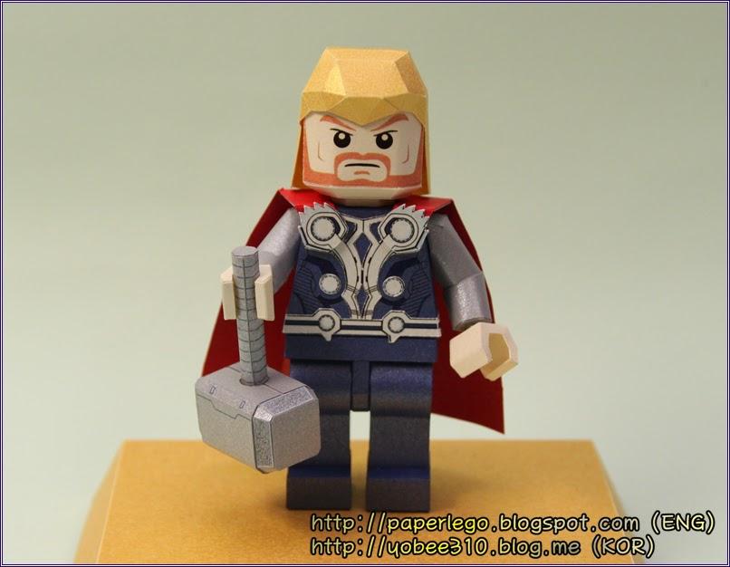 Lego Thor Paper Craft