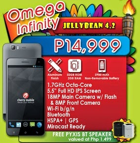 Cherry Mobile Octa Core Omega Infinity Specs and Sale Price