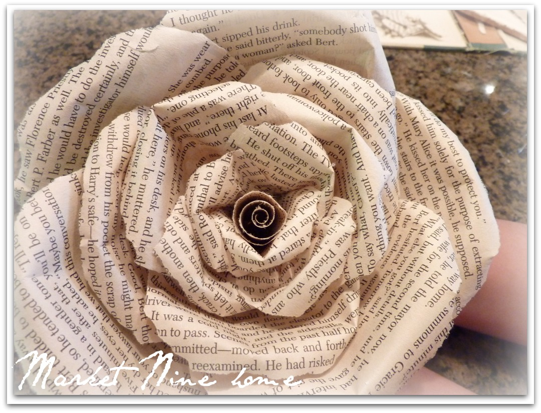 Godiva crafts pages of style 2 books in bloom paper rose made with individual petals mightylinksfo