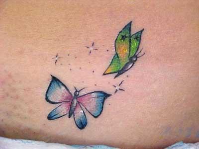 tatuagens de borboleta femininas