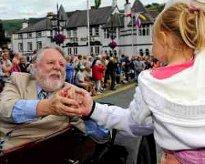 Terry Waite at the Llangollen Eisteddfod Parade of Nations