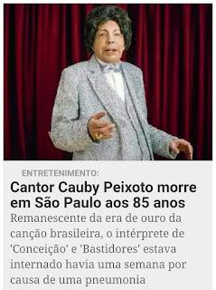 MORRE O CANTOR CAUBY PEIXOTO
