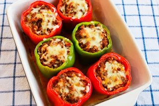 15 Easy Meal Planning Meals :: OrganizingMadeFun.com -- Stuffed Peppers