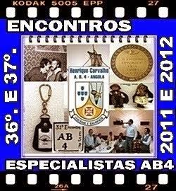 36º a 37º ENCONTROS DOS ESPECIALISTAS DO AB4 - 2011 a 2012