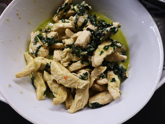 Pollo, spinaci e lemon grass