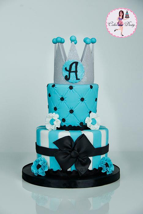 Cakes By Dusty Turquoise Amp Black Princess Cake