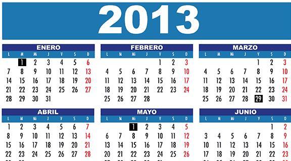 calendario oficial 2013  segunda parte