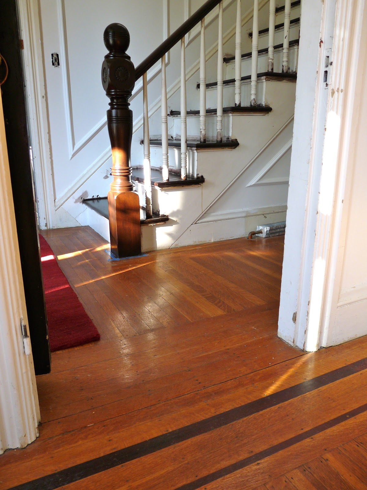 hazardous design refinishing the stairs part 2 or how i fixe