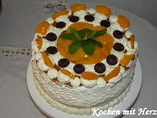 Pfirsich-Topfen-Torte