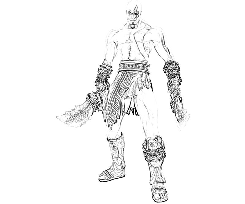 Kratos Coloring Pages Image Info Zeus Greek God Resident Evil Of