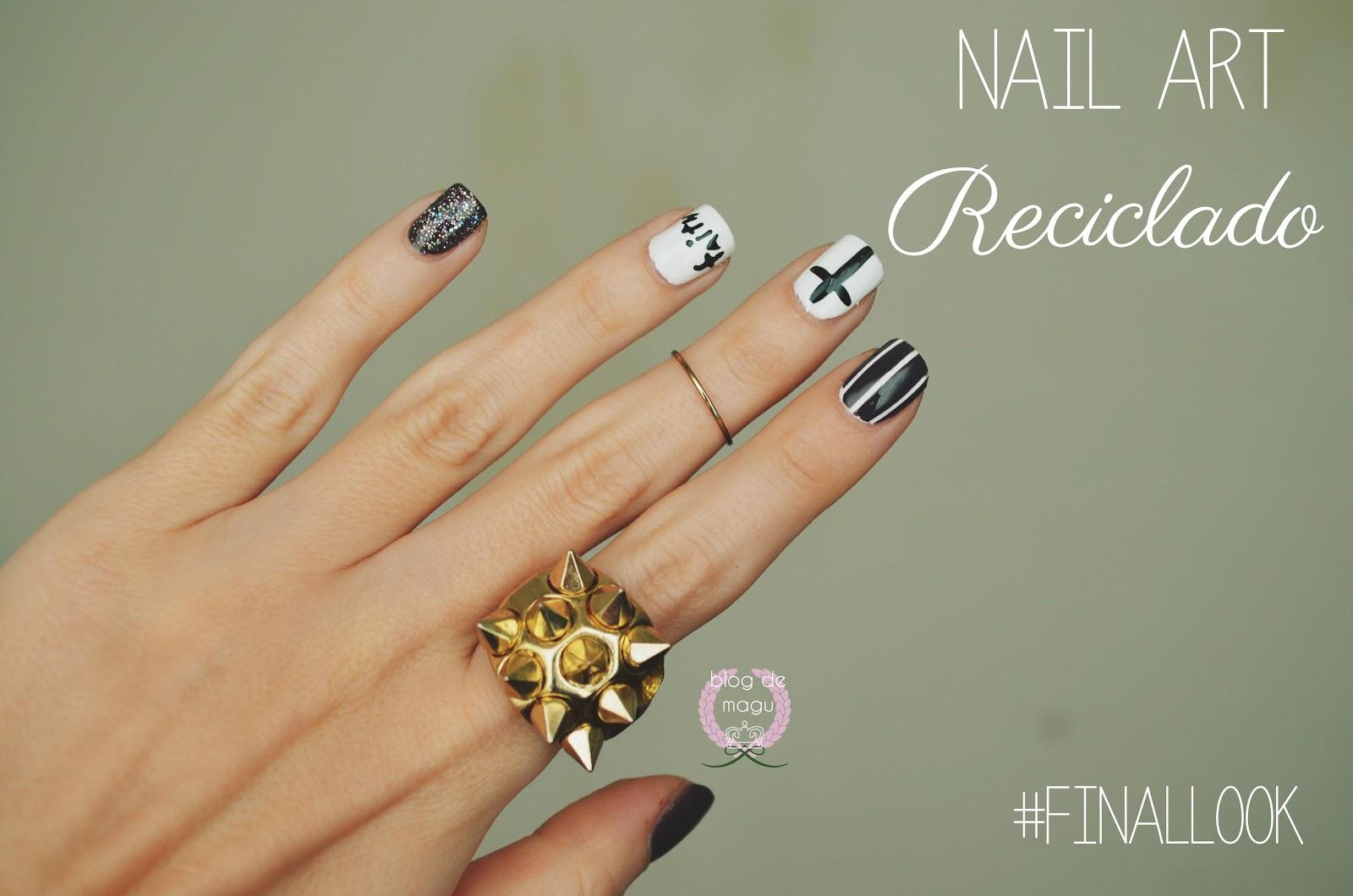 Blog de Magu ♚: ♔ Uñas de Aniversario / Nail Art Reciclado ❀