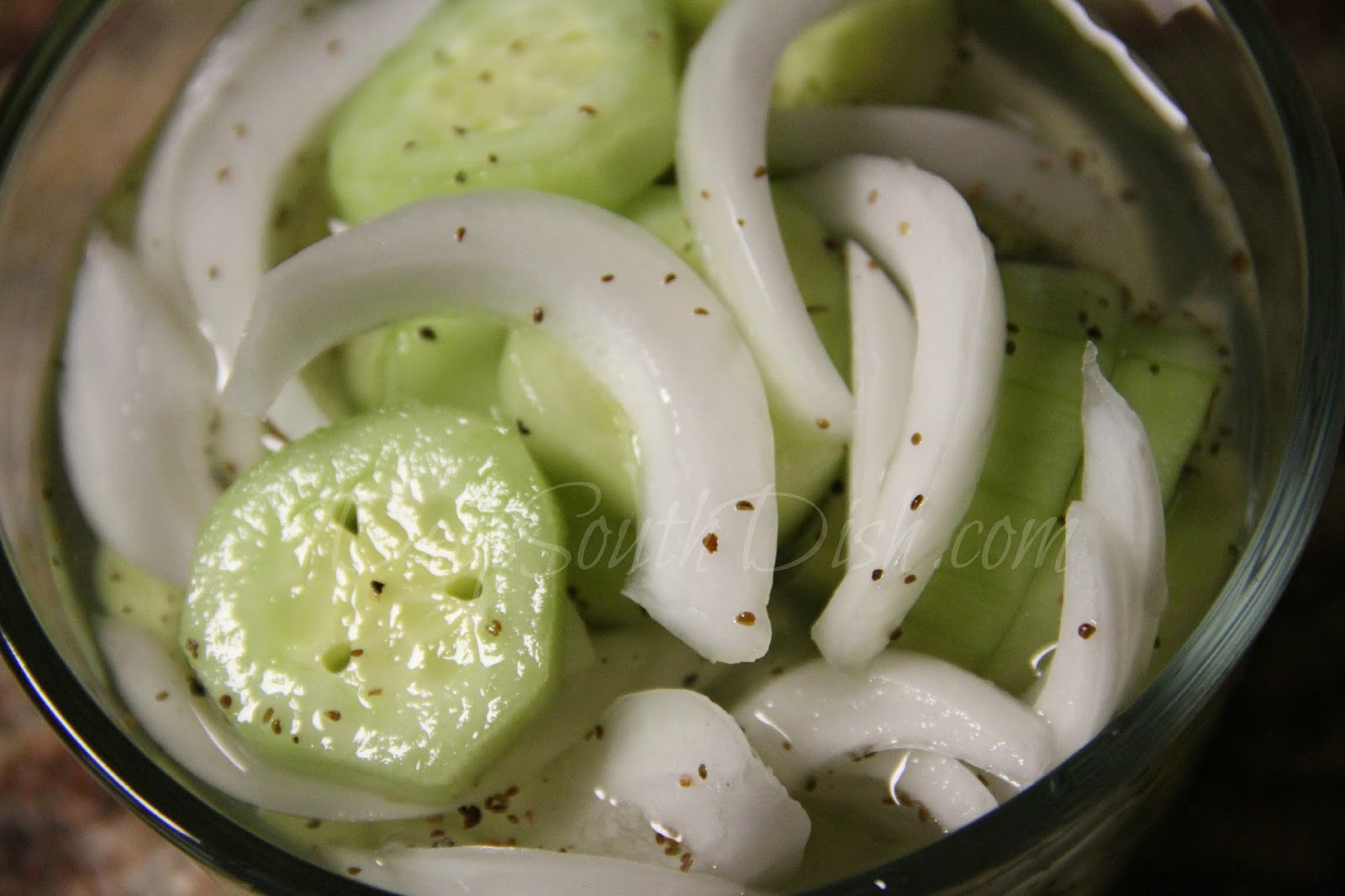 deep south dish cucumber and onion salad