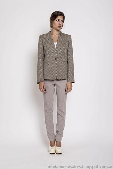 Sacos sastre invierno 2015 moda Janet Wise.