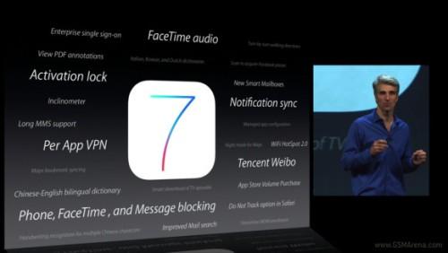 Apple ha annunciato la nuova versione del suo sistema operativo iOS 7.0 con molte novità nell'interfaccia e in alcune funzioni nel multitasking
