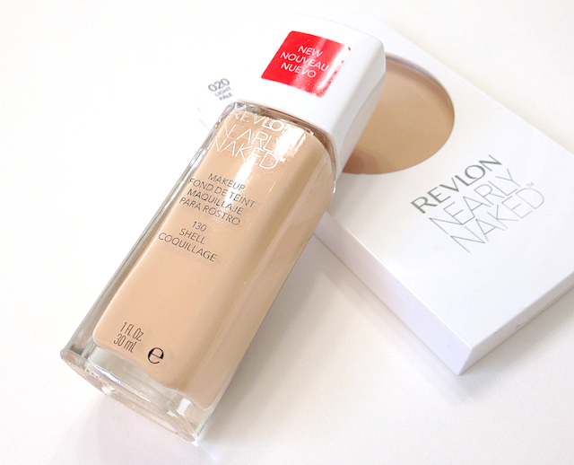 Revlon Nearly Naked Foundation 130 Shell and Powder in Light review swatches
