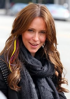 Jennifer Love Hewitt wearing Feather Hair Extensions
