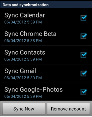 Syncing phone