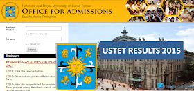USTET results AY 2015-2016 now available Online