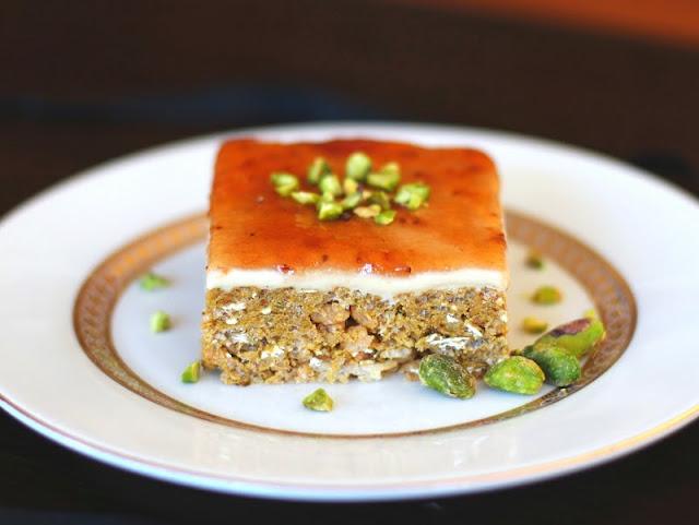 Lemon Pistachio Krispy Treats with Honey-Vanilla Fondant and Strawberry Jam