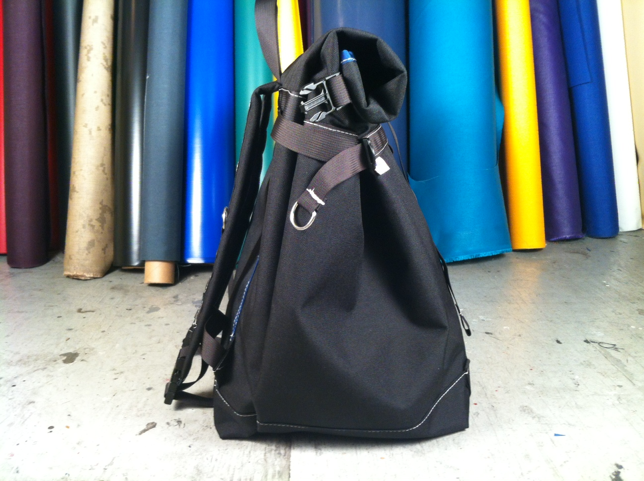 ef5571086d34 XL BASIC BACKPACK (ROLLTOP) BLACK NAVY GRAY. Posted by MER BAGS at 4 16 PM