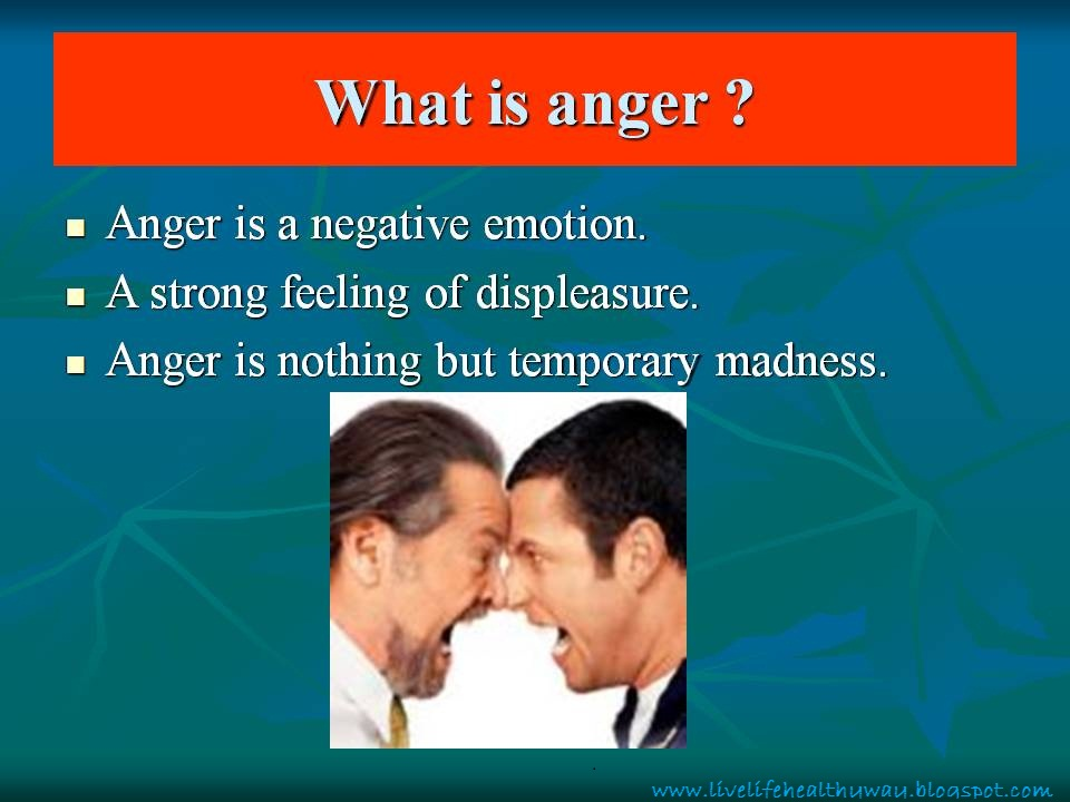 anger management and health Learn how to cope with anger overcome anger management problems with christ-centered addiction care faith-based mental health assistance.