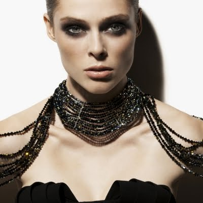 Coco Rocha wearing Rachany necklace