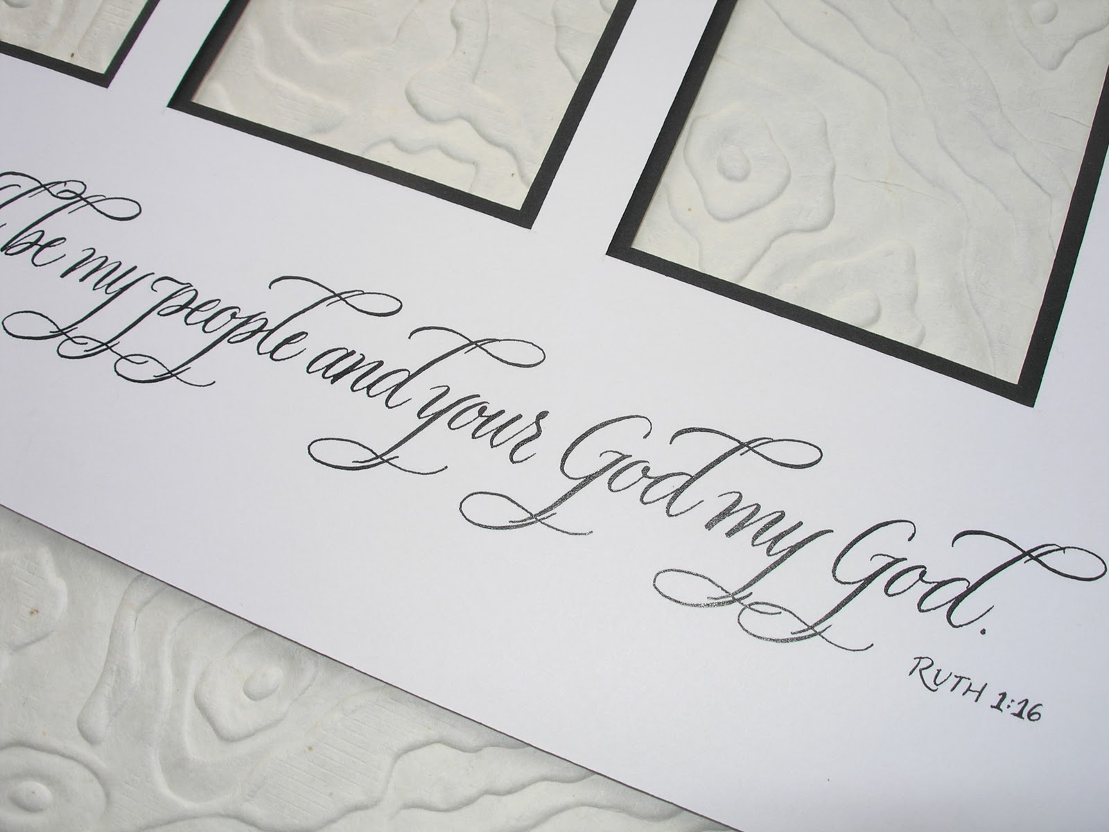Wedding Gift Etiquette Bride Groom : ... by Jane Farr: Ruth 1:16 Calligraphy - Wedding Gift for Groom