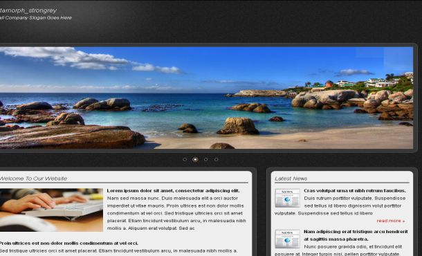 Free Black Blue Business CSS Jquery Template