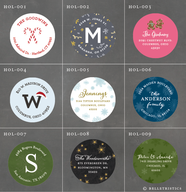 belletristics stationery design and inspiration for the With circle mailing labels