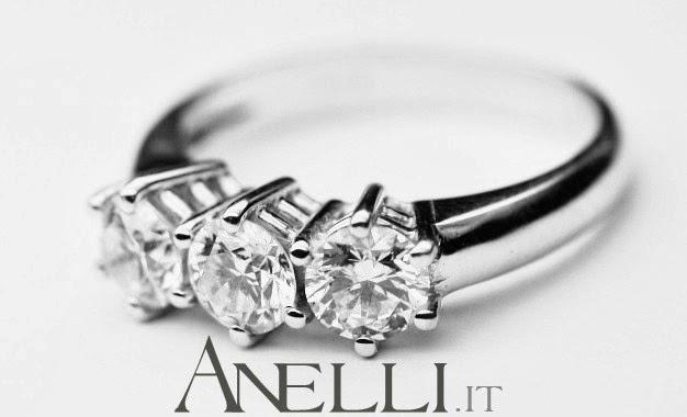 Anelli Trilogy con Diamanti
