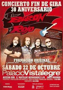 Todo listo para el último concierto de Barón Rojo en Madrid
