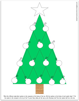 adding up the christmas tree game - Christmas Tree Game