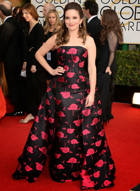 Tina Fey in Carolina Herrera at the Golden Globes