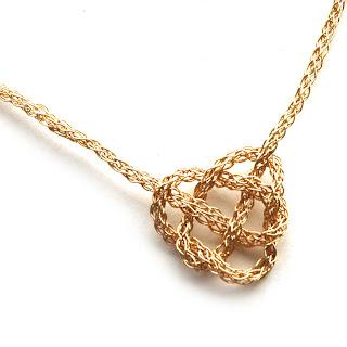 love knot neckalce