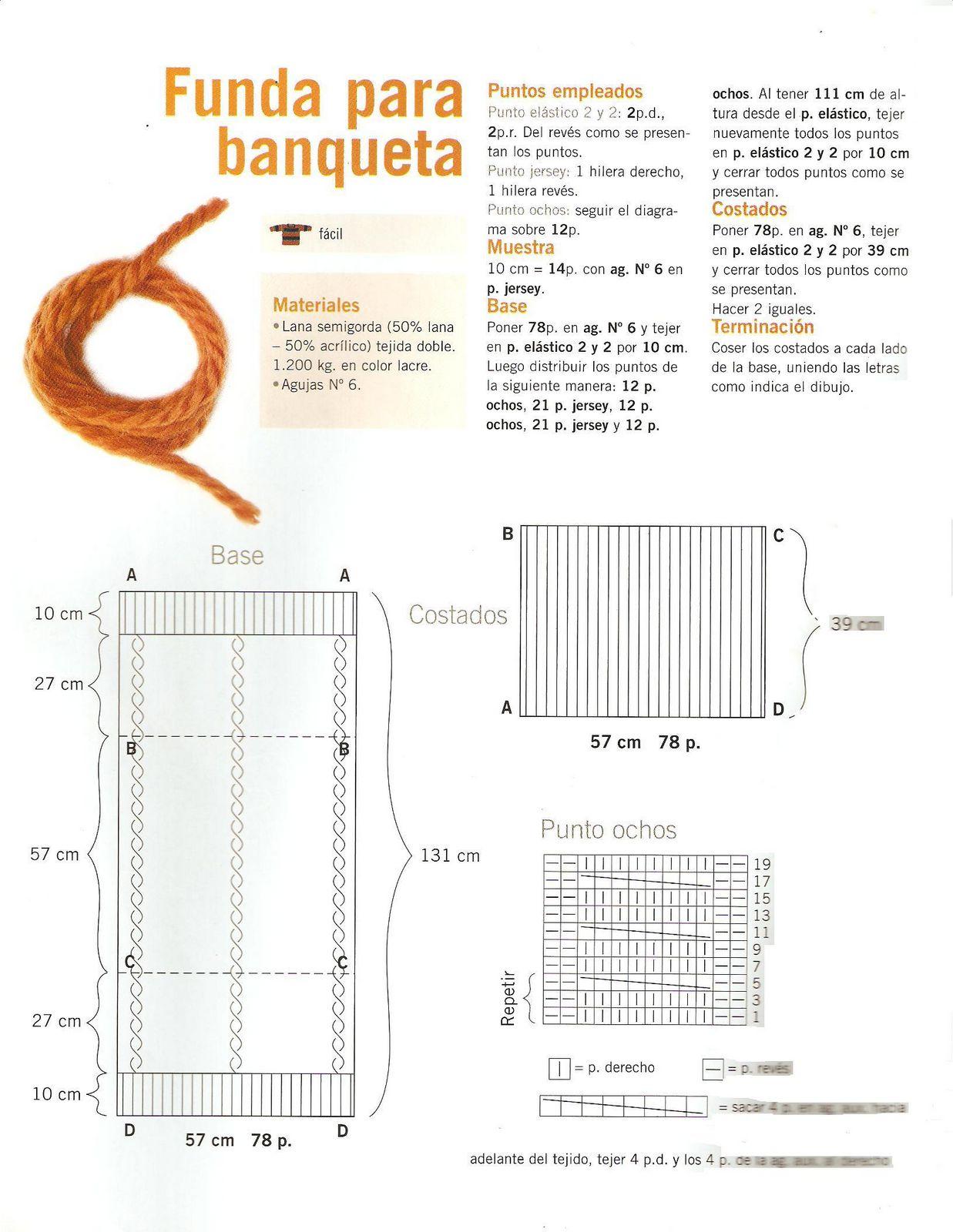 Patron para tejer una funda de puf cuadrado | iknitts.com
