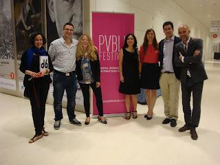 Ginés Haro con el equipo de SocialNest en el Festival Internacional de Publicidad Social