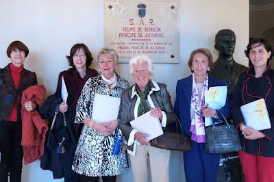 Presentación del Pliego Premium y el sello de los Premios Princesa de Asturias. Menchu Álvarez del Valle. Carmina González