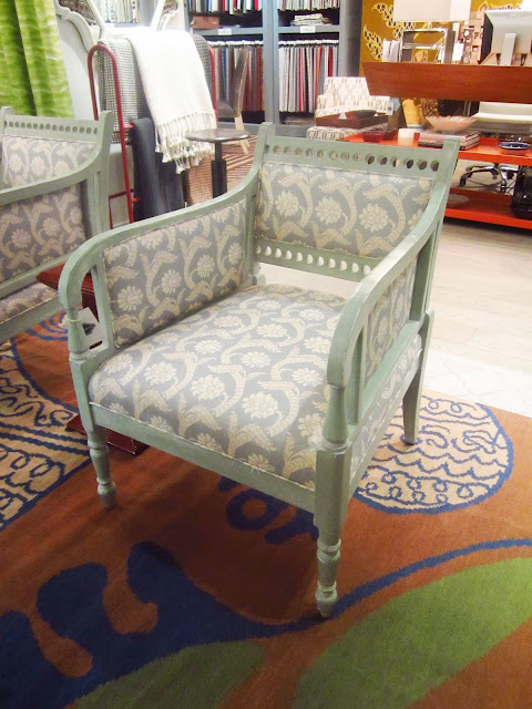 Original Harbinger armchair in light blue