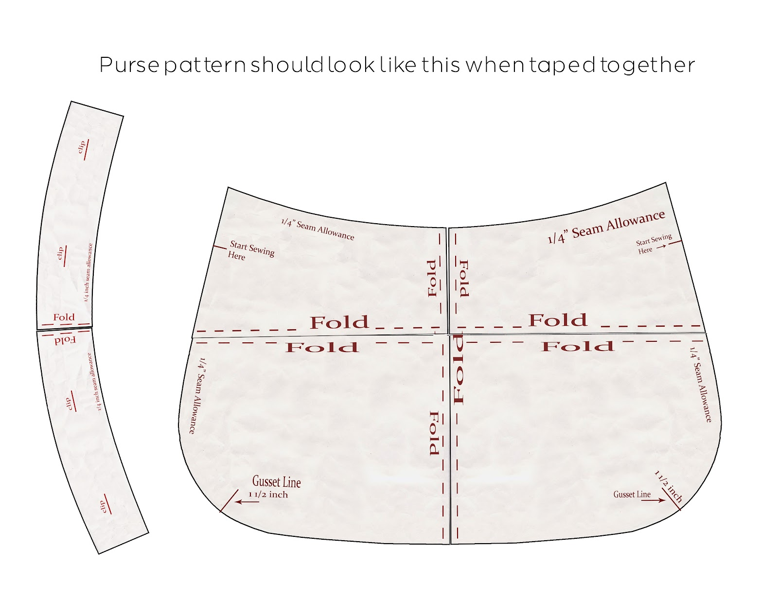 Pursepatterns : update 9/25/12 : Be sure to download the pattern pieces to your ...